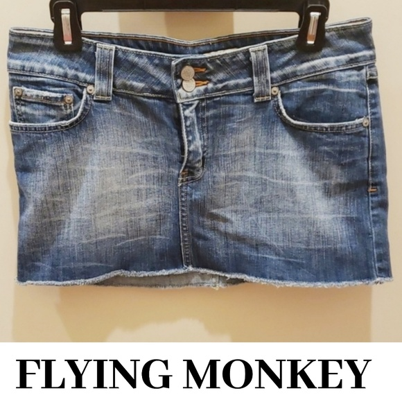 Flying Monkey Dresses & Skirts - FLYING MONKEY Denim Mini w/ Embellished Pockets